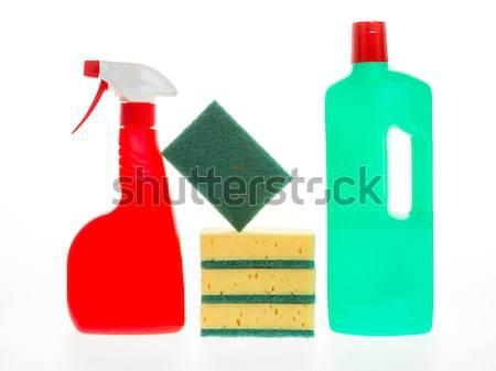 Casa limpeza produto isolado branco banheiro Foto stock © michaklootwijk