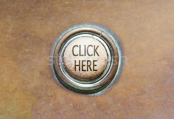 古い ボタン ここをクリック グランジ 画像 赤 ストックフォト © michaklootwijk