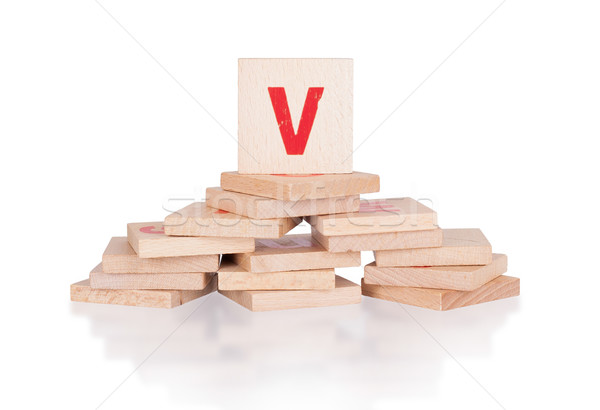 Alphabet - letter V Stock photo © michaklootwijk