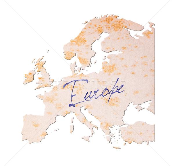 Europa papel velho letra azul nosso papel Foto stock © michaklootwijk
