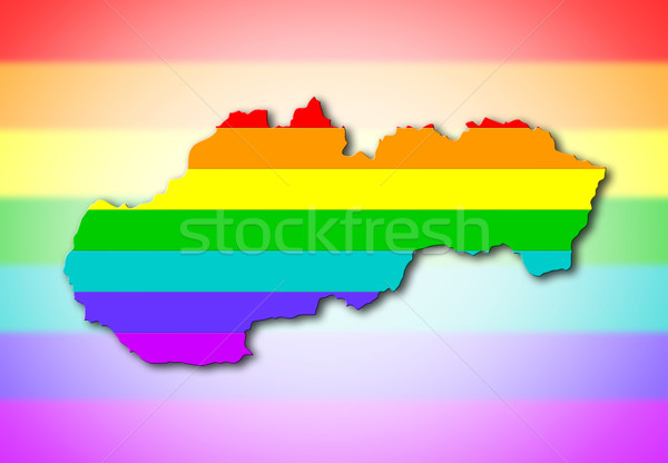 Rainbow flag pattern - Slovakia Stock photo © michaklootwijk