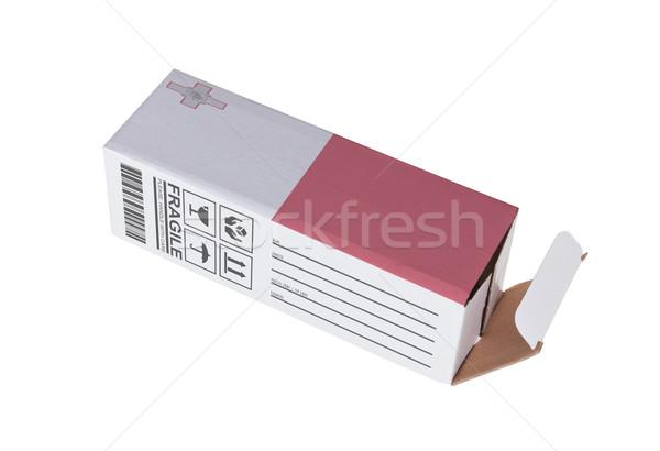 Exporteren product Malta papier vak Stockfoto © michaklootwijk