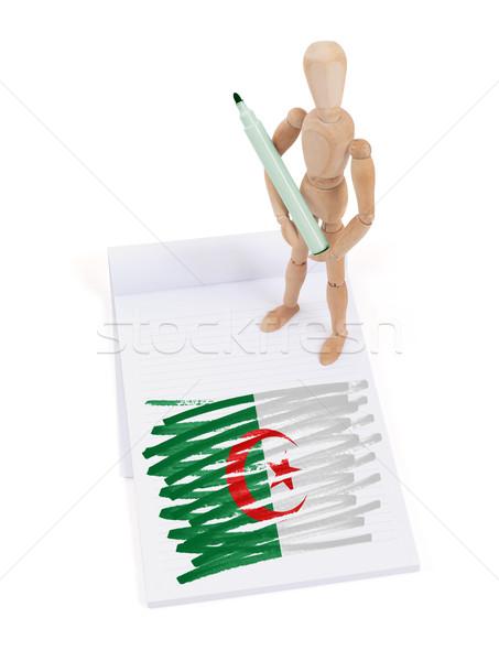 Bois mannequin dessin Algérie pavillon corps Photo stock © michaklootwijk