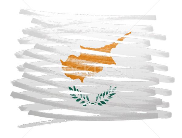 フラグ 実例 キプロス ペン ビジネス 塗料 ストックフォト © michaklootwijk