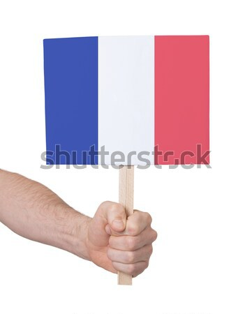 Hand holding small card - Flag of Peru Stock photo © michaklootwijk