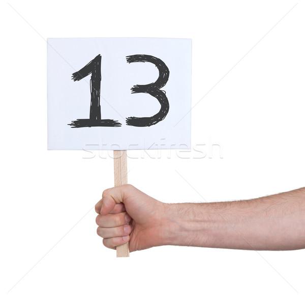 Felirat szám 13 izolált fehér üzlet Stock fotó © michaklootwijk