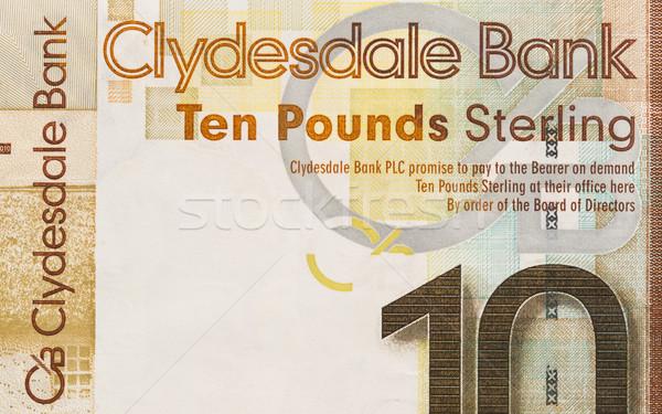 Scottish Banknote, 10 pounds Stock photo © michaklootwijk