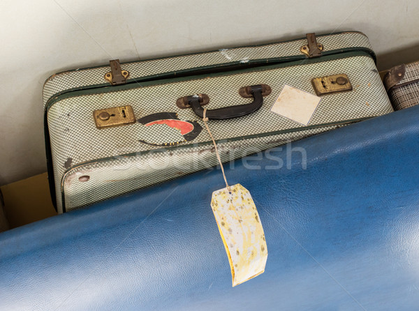 Old suitcase for cabin baggage - Selective focus Stock photo © michaklootwijk