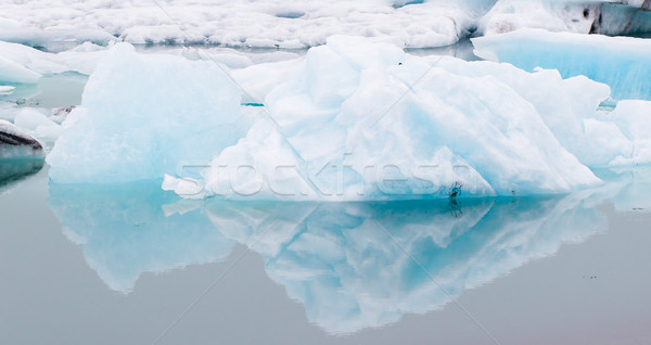 Jokulsarlon is a large glacial lake in southeast Iceland Stock photo © michaklootwijk