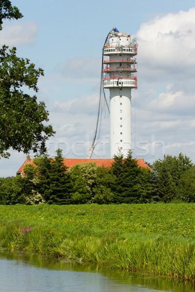 Radio Television Tower collapsed Stock photo © michaklootwijk