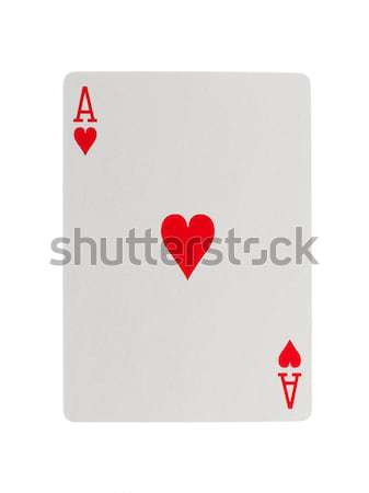 Old playing card (ace) Stock photo © michaklootwijk