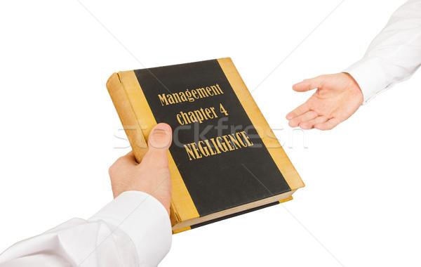 бизнесмен используемый книга другой управления глава Сток-фото © michaklootwijk