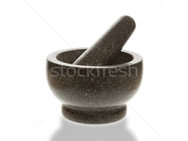 Kamień biały refleksji pracy zdrowia tle Zdjęcia stock © michaklootwijk