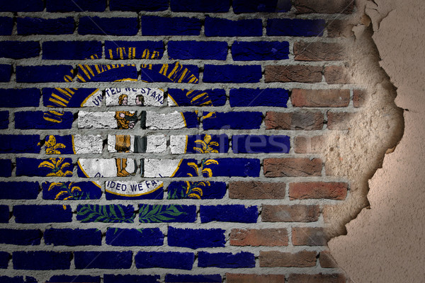 Buio muro di mattoni intonaco Kentucky texture bandiera Foto d'archivio © michaklootwijk