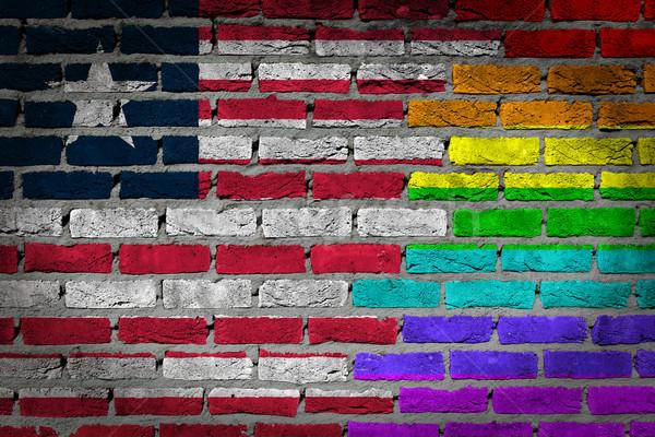 Dark brick wall - LGBT rights - Liberia Stock photo © michaklootwijk