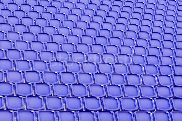 Blue seat in sport stadium Stock photo © michaklootwijk