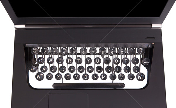 Laptop with old fashioned typewriter keys Stock photo © michaklootwijk