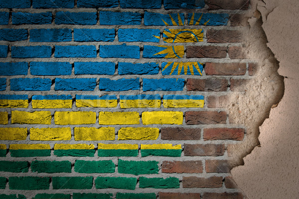 Sombre mur de briques plâtre Rwanda texture pavillon Photo stock © michaklootwijk