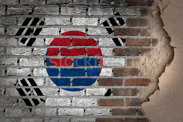 Dark brick wall with plaster - South Korea Stock photo © michaklootwijk