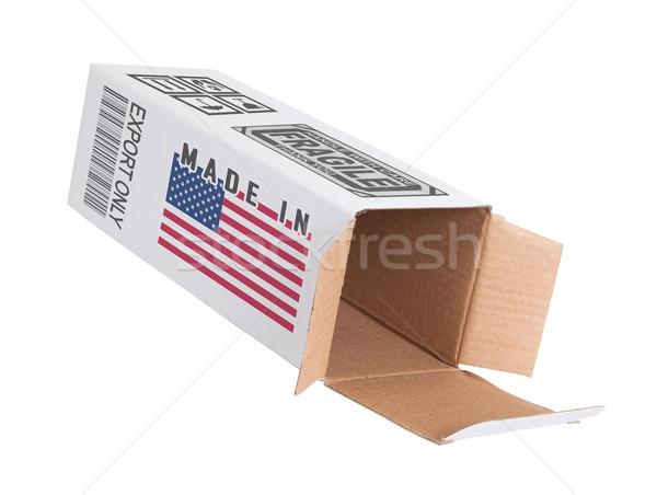 エクスポート 製品 米国 紙 ボックス ストックフォト © michaklootwijk