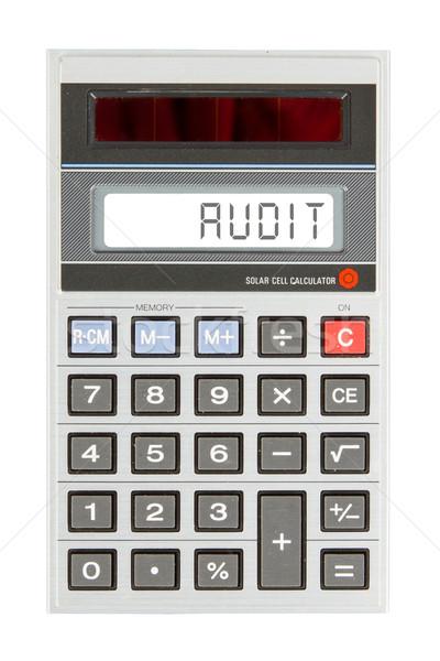 Starych Kalkulator audytu tekst Widok Zdjęcia stock © michaklootwijk