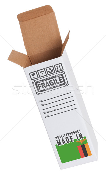 Export termék Zambia kinyitott papír doboz Stock fotó © michaklootwijk