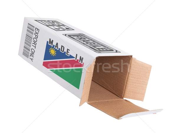 Exportar produto Namíbia papel caixa Foto stock © michaklootwijk