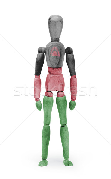 Wood figure mannequin with flag bodypaint - Malawi Stock photo © michaklootwijk