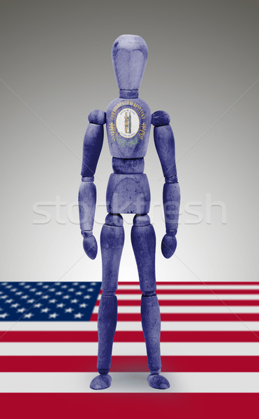 Wood figure mannequin with US state flag bodypaint - Kentucky Stock photo © michaklootwijk