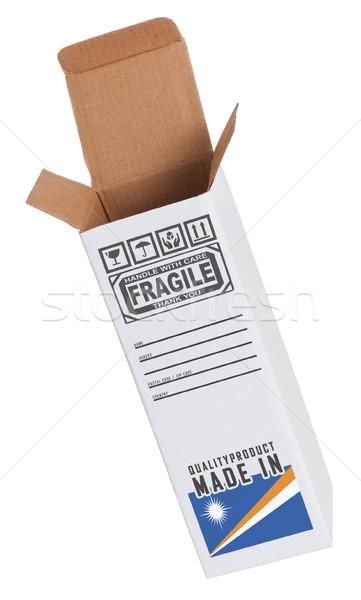 Foto stock: Exportar · produto · papel · caixa