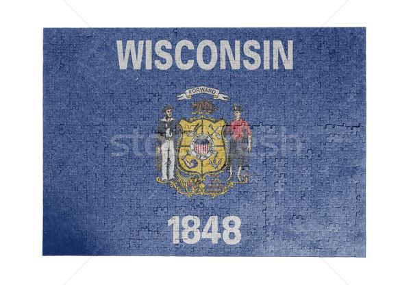 Grande 1000 peças Wisconsin bandeira Foto stock © michaklootwijk