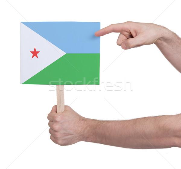 Strony mały karty banderą Dżibuti Zdjęcia stock © michaklootwijk