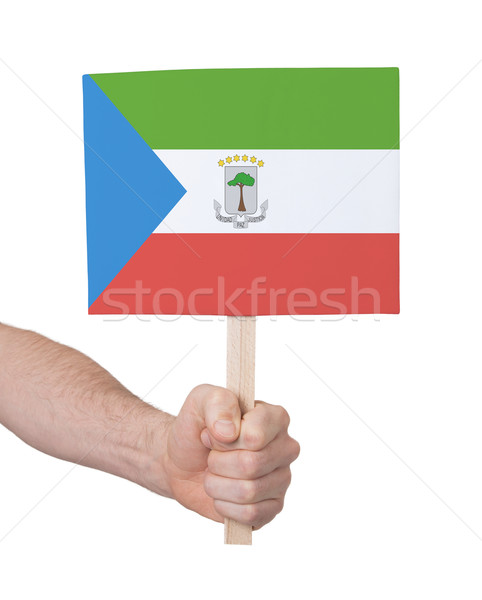Hand holding small card - Flag of Equatorial Guinea Stock photo © michaklootwijk