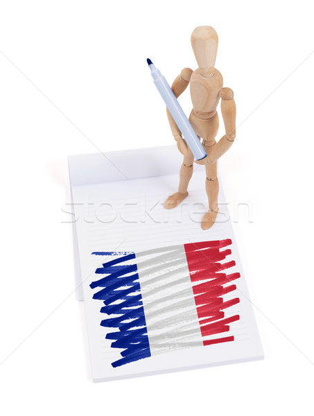 Wooden mannequin made a drawing - France Stock photo © michaklootwijk