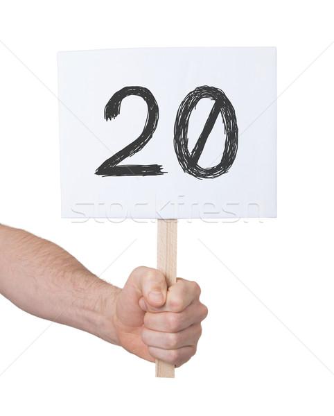 Imzalamak numara 20 yalıtılmış beyaz iş Stok fotoğraf © michaklootwijk