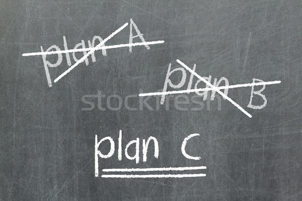Dışarı plan plan b yazı değiştirmek iş Stok fotoğraf © michaklootwijk