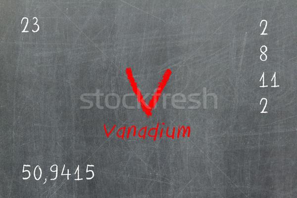Isolated blackboard with periodic table, Vanadium Stock photo © michaklootwijk