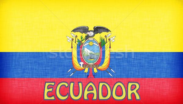 Linen flag of Ecuador Stock photo © michaklootwijk