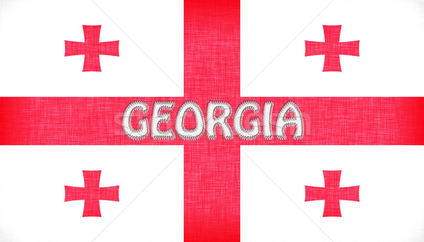 Linen flag of Georgia Stock photo © michaklootwijk