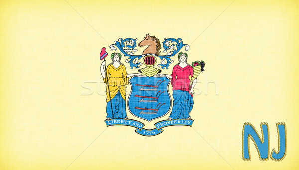 Linen flag of the US state of New Jersey Stock photo © michaklootwijk
