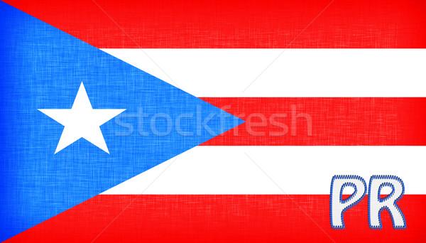 Vlag Puerto Rico afkorting star weefsel Stockfoto © michaklootwijk