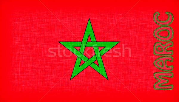 Zászló Marokkó levelek csillag szövet piros Stock fotó © michaklootwijk