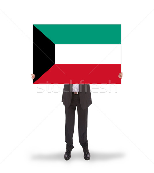 Foto d'archivio: Imprenditore · grande · carta · bandiera · Kuwait