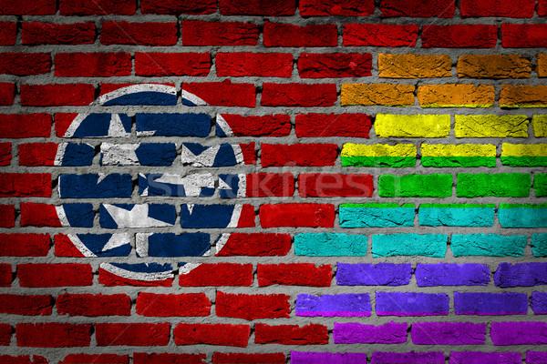 Ciemne murem prawa Tennessee tekstury banderą Zdjęcia stock © michaklootwijk