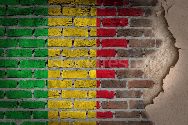 Oscuro pared de ladrillo yeso Malí textura bandera Foto stock © michaklootwijk