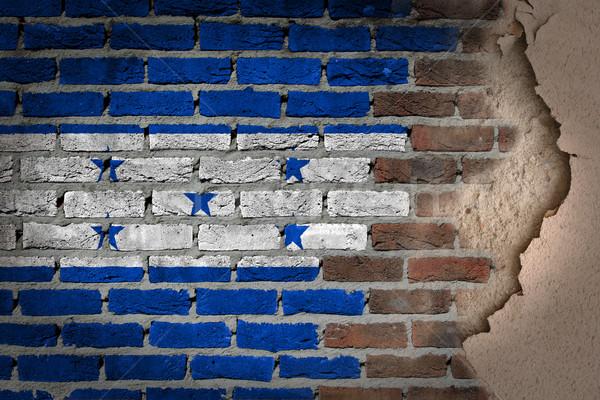 Sötét téglafal tapasz Honduras textúra zászló Stock fotó © michaklootwijk