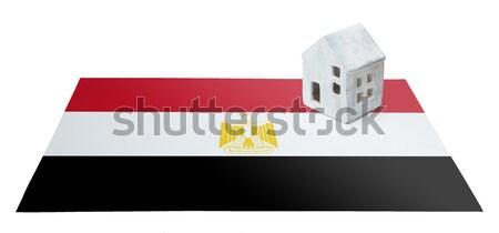 Zászló égő Egyiptom háború válság tűz Stock fotó © michaklootwijk