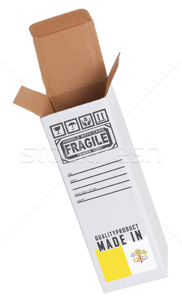 Exportar produto Cidade do Vaticano papel caixa Foto stock © michaklootwijk