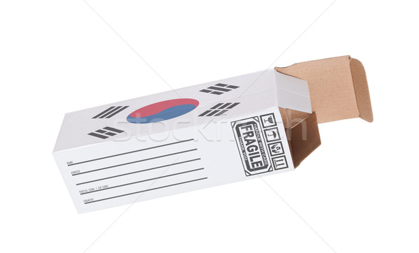 Concept of export - Product of South Korea Stock photo © michaklootwijk