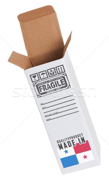 Export termék Panama kinyitott papír doboz Stock fotó © michaklootwijk